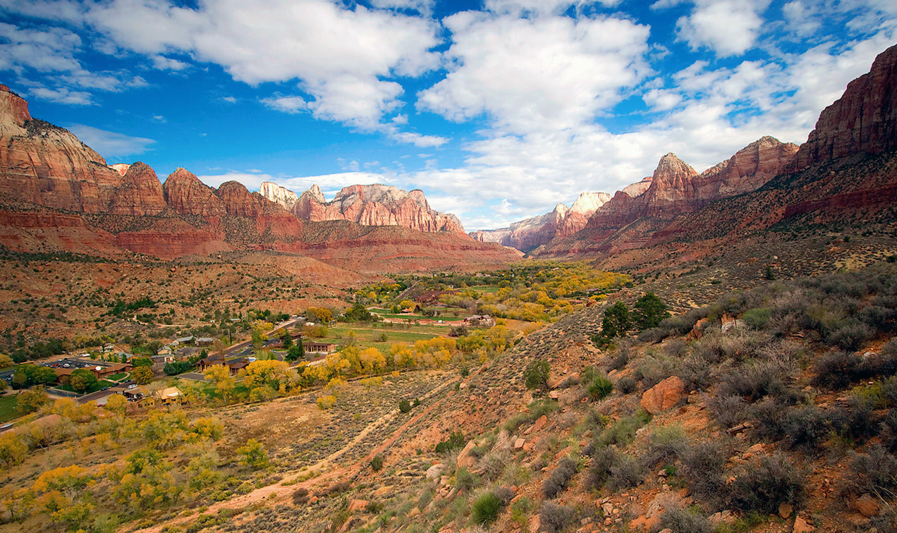 Springdale, Utah is the gateway entrance to Zion National Park.
