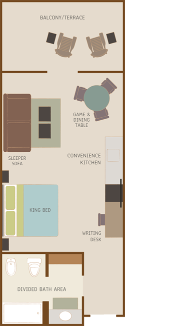 Desert Pearl Inn King Room Floor Plan
