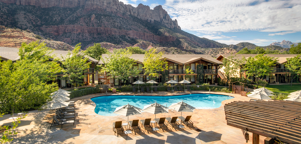 Large outdoor pool Zion National Park