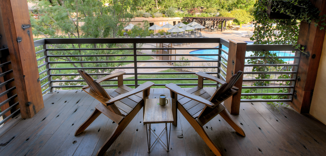 Private balcony Zion National Park